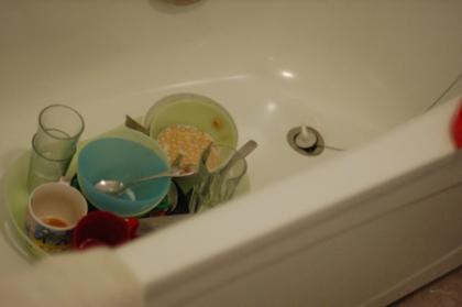 frukostdisken i badkaret